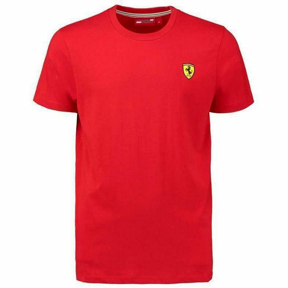 2019 Scuderia Ferrari T-shirt Manche Courte Homme Officiel Del Équipe Art
