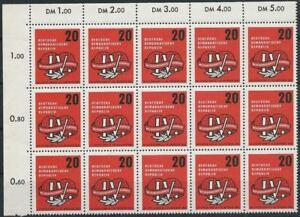 DDR aus 1957 ** postfrisch MiNr.595 Ecke oben links - Gewerkschaftskongress!