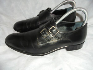 Men's Leather Monk 41 Black Maat Vk 7 Eu Double Shoes Mr Hare Vgc Strap tQdshCr