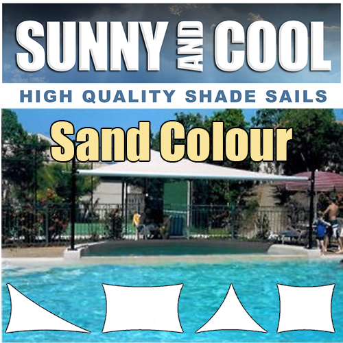 MULTI SIZE HEAVY DUTY SHADE SAIL IN SAND,BEIGE
