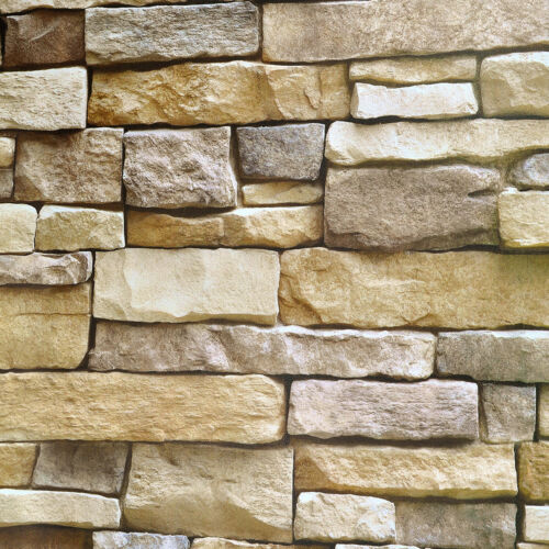 3D Brick Stone Peel and Stick Wallpaper Sticker Self Adhesive Wall Paper Bedroom
