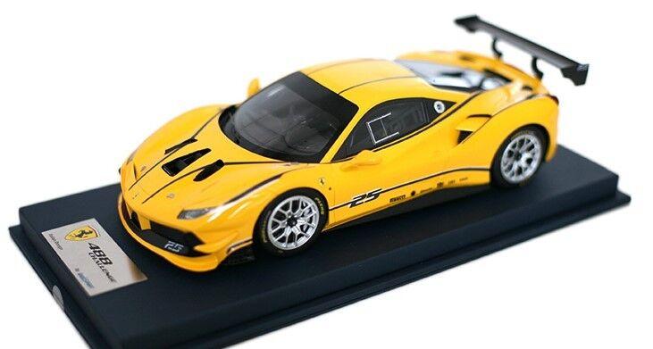 LS18_RC010A Looksmart 1 18 Ferrari 488 Challenge jaune Modena avec livrée