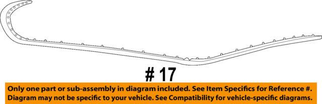 Dodge CHRYSLER OEM 13-16 Dart Hood-Weatherstrip Seal 68082830AE