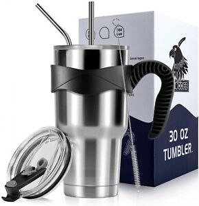 7Pc-Stainless-Steel-Tumbler-Double-Insulated-Coffee-Cup-Travel-Mug-Lid-Straw-Set