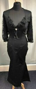 punk-Goth-Canvas-Dress-Victorian-Morticia-Adams-New-By-Phaze-Size-10-lacey
