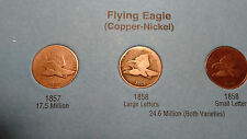 1857-1909 Flying Eagle & Indian Head Cent Set 53 Coins in Whitman Folder