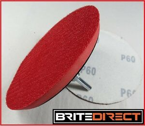 Support-Pad-125-5-Velcro-Crochet-amp-Boucle-Meuleuse-D-039-Angle-Perceuse-Poncage-Polissage