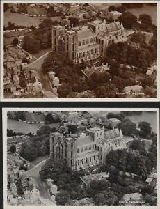 RIPON-CATHEDRAL-AERIAL-PHOTOS-Vintage-Postcards-RN-553
