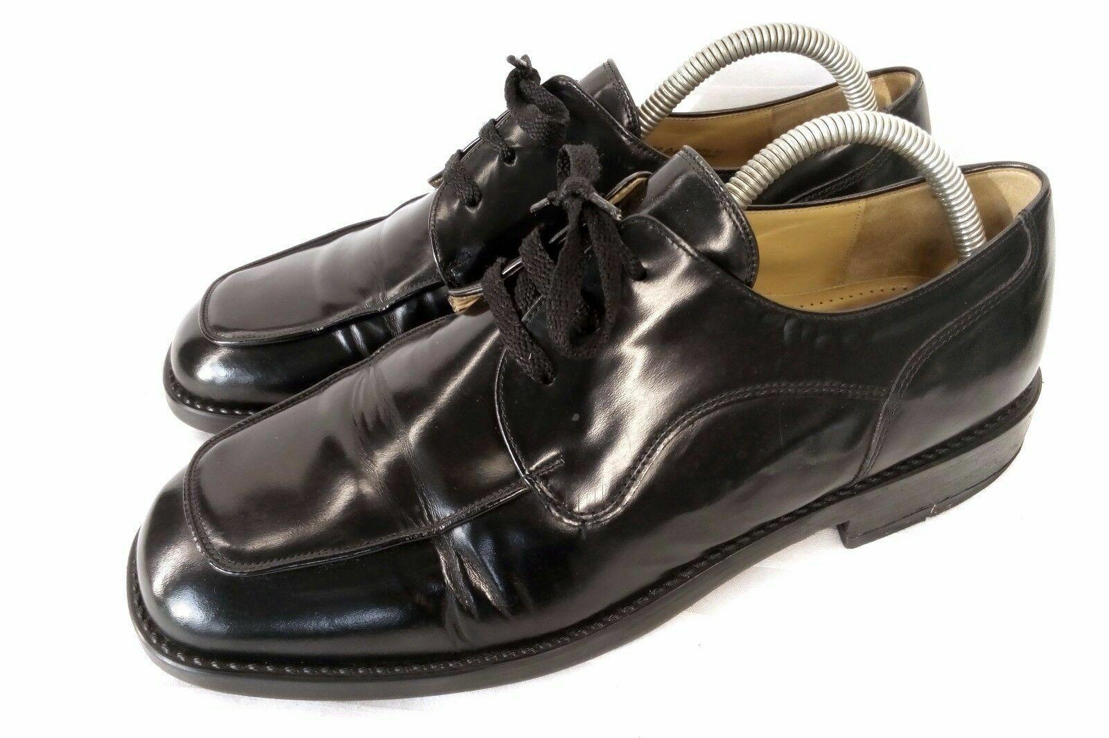 Gabor Elegant Apron Toe Derby Business Chaussures Hommes Noir Cuir UK 9 Taille 43