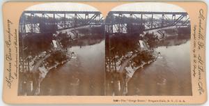Stereo-Keystone-View-Company-B-L-Singley-The-Gorge-Route-Niagara-Falls-N