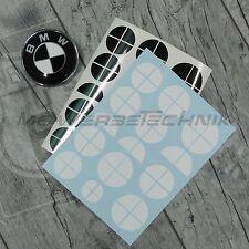 SET BMW Emblem Logo Aufkleber 1er 3er 4er M3 X1 X3 X4 X5 schwarz-weiß glänzend