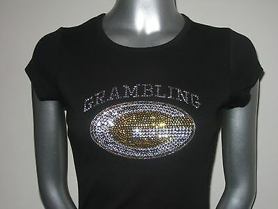 Grambling Tigers Rhinestone Tee black and gold