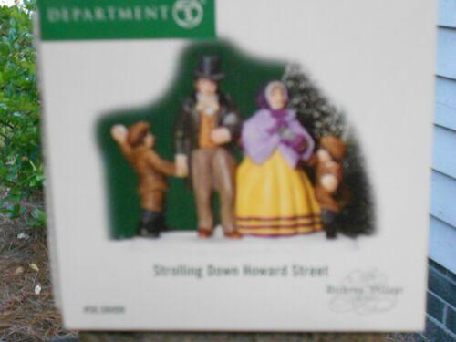 DEPT 56 DICKENS/' VILLAGE Accessory STROLLING DOWN HOWARD STREET NIB