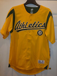 official photos c9f29 a6826 Details about Oakland Athletics A's Yellow/Green Jersey MLB by Dynasty