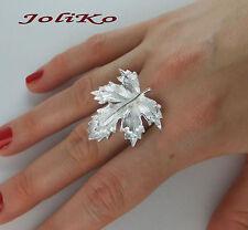 Joliko noble anillo plata PL. arce árbol maple leaf tree 3 d hoja unigröße