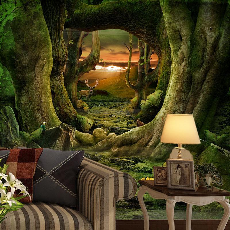 3D Trunk Tree Hole 08 Wall Paper Wall Print Decal Wall AJ WALLPAPER CA