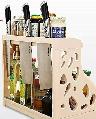 2 Tier Kitchen Spice Rack Organiser Self Standing Storage Kitchen Counter