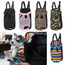 Pet Dog Puppy Cat Canvas Backpack Comfort Front Tote Carrier Travel Net Bag