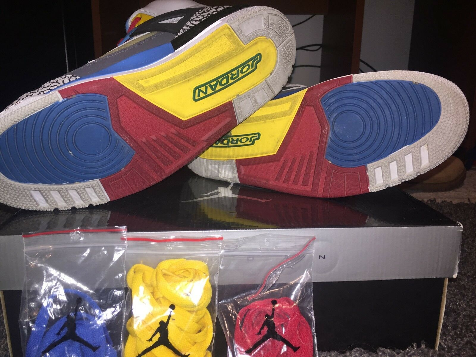 Air Jordan Retro Spizike Bordeaux Size 11- REDUCED - PRICE - REDUCED Green/Yellow/Red/Blue 9353b3