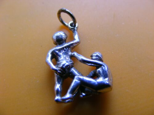 A17 VINTAGE STERLING SILVER CHARM CHARMS CAR CLOWN COW TUG LAMP CLOCK BOOT SWAN