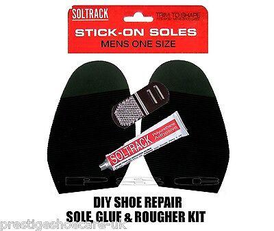 Para Hombre Par Zapatos Stick en soles/black natural/free glue&rougher / fácil de reparación de calzado