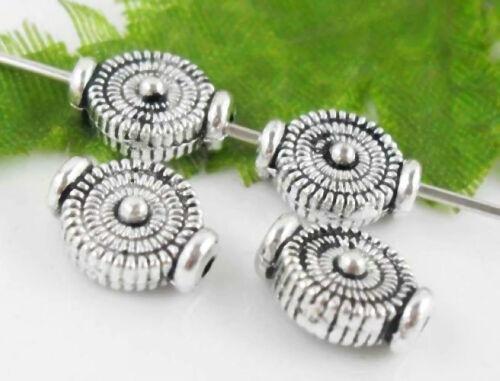 Lead-free Wholesale 50//110Pcs Tibetan Silver Spacer Beads 4x10mm