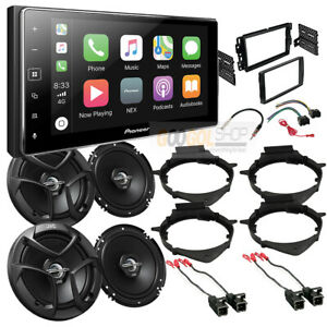 Apple Car Play Car Stereo Dash Kit front-rear Speakers for 2007-2013 Silverado