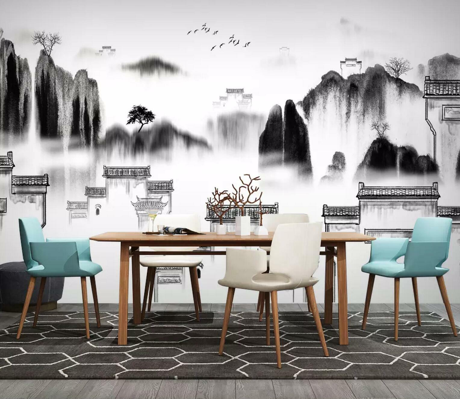 3D Jiangnan Mountain 9 Wall Paper Exclusive MXY Wallpaper Mural Decal Indoor Wal