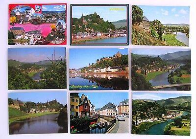 Trendmarkierung 9 X Saarburg Rheinland-pfalz Color Postkarten Lot Gelaufen Frankiert Gestempelt Hohe Belastbarkeit