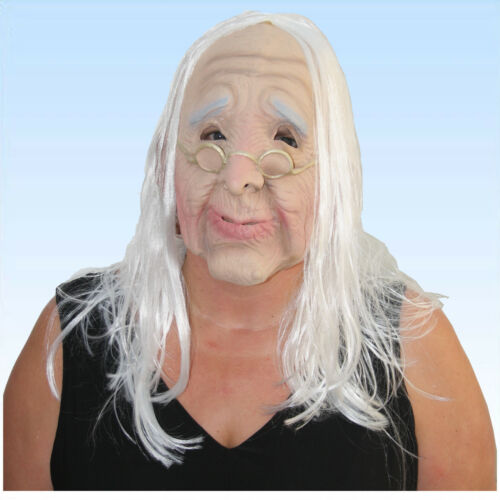 Maske alter Mann alte Frau Greis//in Opa oder Oma Faschingsmaske Karnevalsmaske