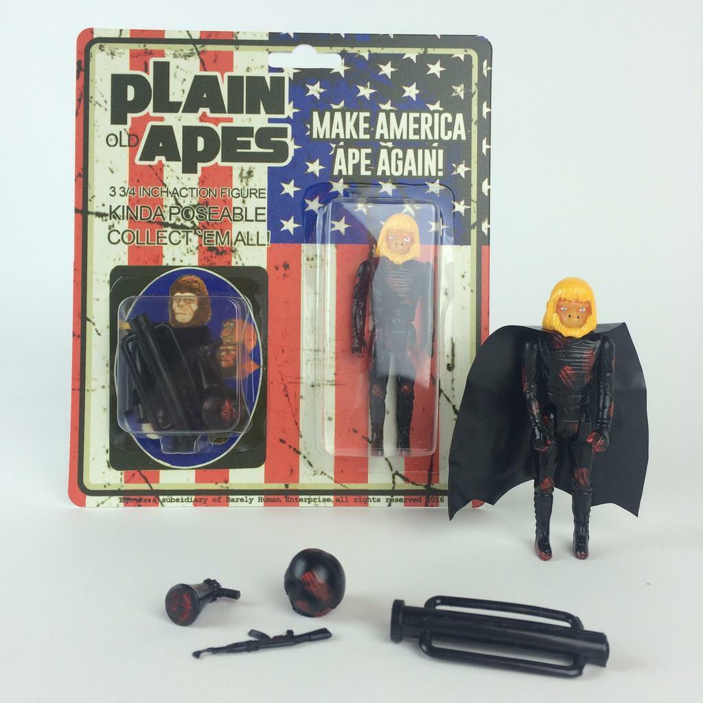 MAKE AMERICA APE AGAIN RESIN ART FIGURE BY BARELY HUMAN SDCC 2016 COMIC CON
