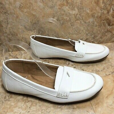 Women's Aerosoles White Moc Toe Penny Loafers Size 10.5 M ...