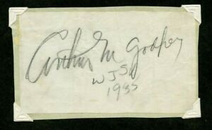 Autographed Paper Iconic Radio and Television Broadcaster Arthur Godfrey 1935