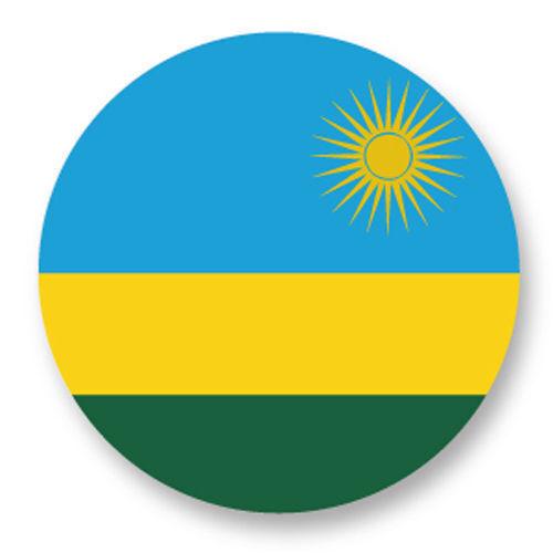 Magnet Aimant Frigo Ø38mm Drapeau Flag Maillot Echarpe Rwanda rw Kigali