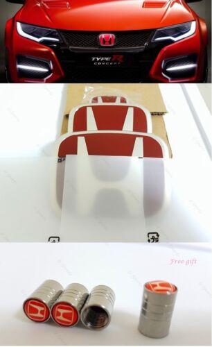 JDM Type-R Red H Emblem Front Rear Steering Wheel Fit 2008-15 HONDA ACCORD SEDAN