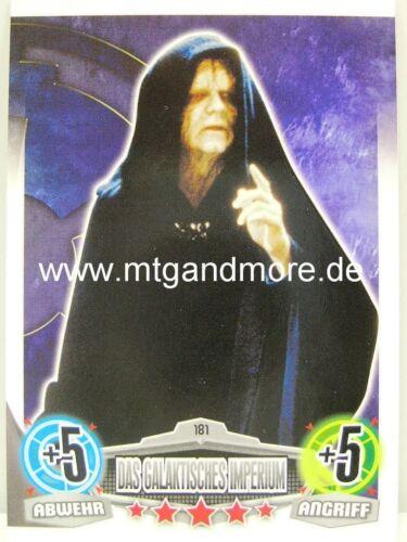 Force ATTAX Movie Card-l/' empire galactique motif 3 #181