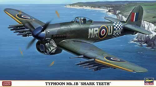 Typhoon Mk.Ib  Shark Teeth  Hasegawa Kit 1 48 HG09978