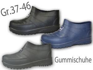 Details zu Herren Damen Gummischuhe ungefüttert Galosche Gartenschuhe Gummistiefel NEU@2733
