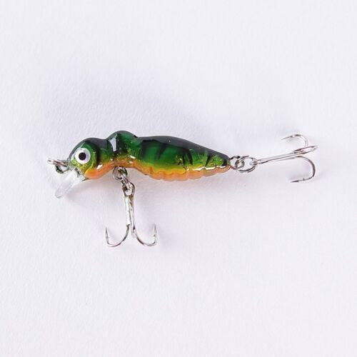 Wobbler 4,5cm Insekten Imitation auf Forelle und Barsch Forellen Fisch-LKA013