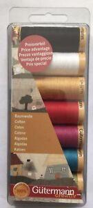 Gutermann-Hilo-De-Algodon-Set-Costura-Todo-proposito-7-Carretes-100-M-Colores-Surtidos