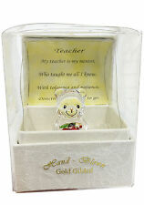 Special Teacher Crystal Teddy/Taddy Bear Gift with Poem Message & Box