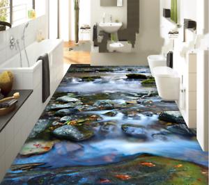 3D Stone River  533 Floor WallPaper Murals Wall Print 5D AJ WALLPAPER UK Lemon