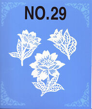 Brother Babylock Bernina Sewing Machine Embroidery Card No 29 Floral and Lace