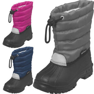 0182d76de58 Das Bild wird geladen Playshoes-Winter-Bootie-Baby-Kinder-Winterstiefel -gefuettert-Schneeschuhe-