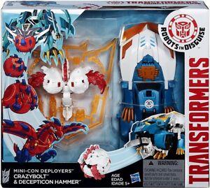 Robots In Disguise Minicon Deployers Figure d'action de Crazybolt & Decepticon Hammer
