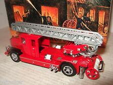 Raro Matchbox YFE05 1932 Mercedes Benz Escalera Camión,Servicio De Bomberos