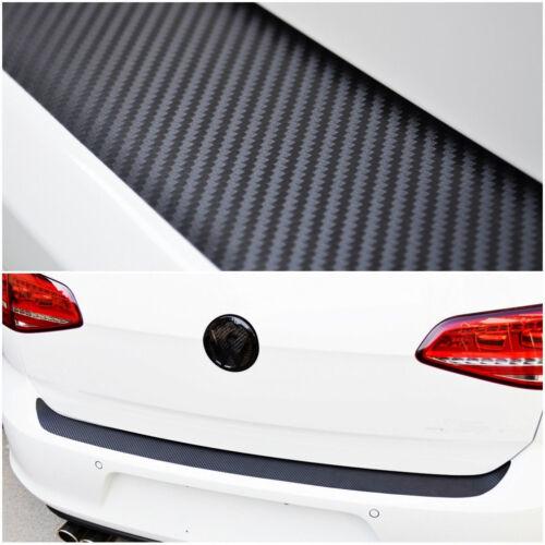 Universal Car Rear Guard Bumper Anti Scratch 4D Black Carbon Fiber Sticker Decal