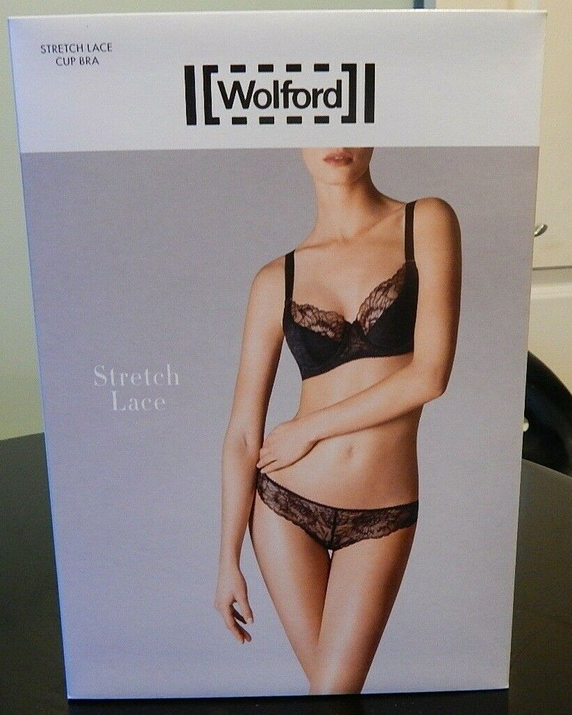 WOLFORD  34C White LACE CUP  BRA  75D NEW IN BOX
