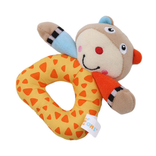 Newborn Baby Hand Rattle Gifts Stuffed Animal Plush Rattle Ring Soft Toy LH