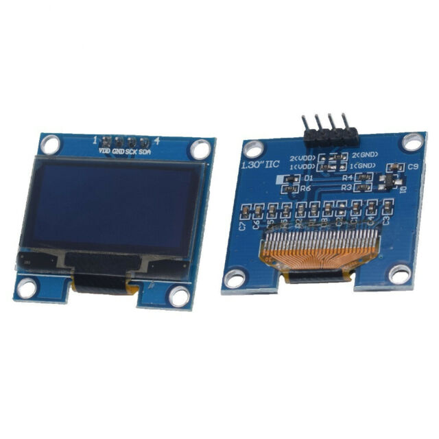 1.3 Inch 4Pin White OLED LCD Display 12864 IIC I2C Interface Module For Ar NEW